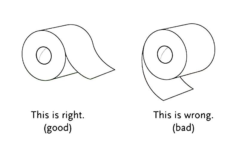 Раскраска туалетная бумага