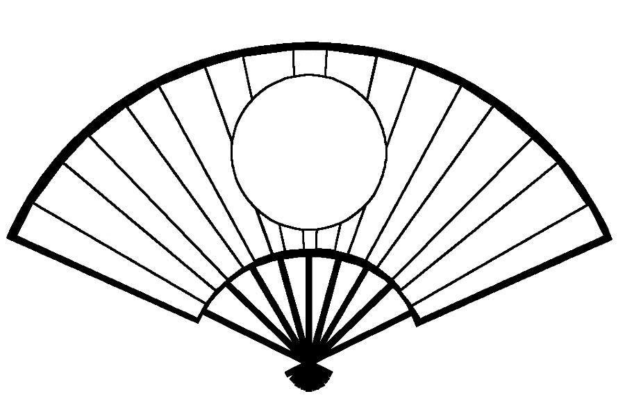Раскраска веер