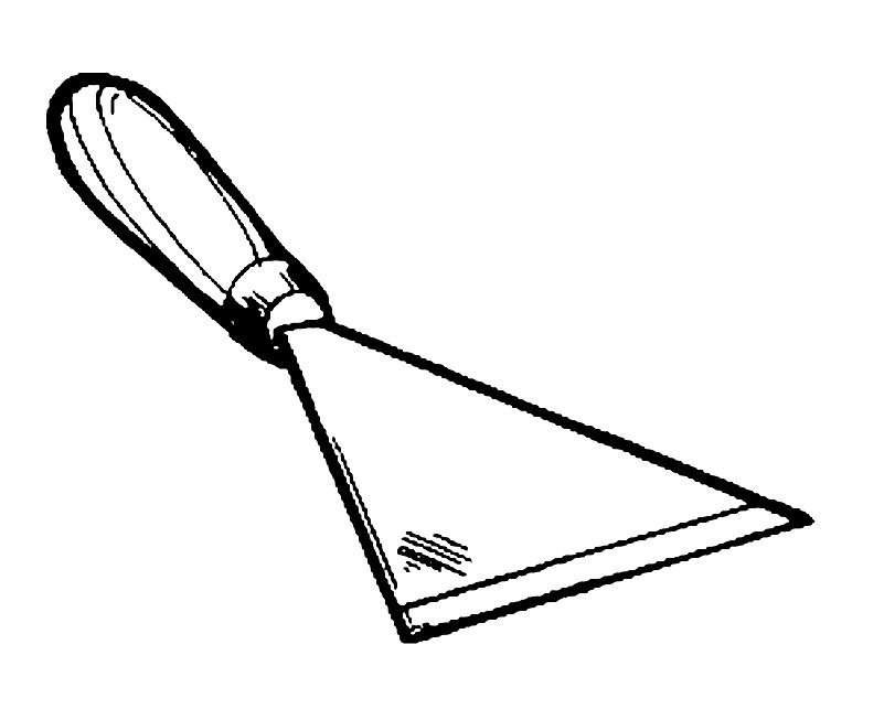 Раскраска шпатель