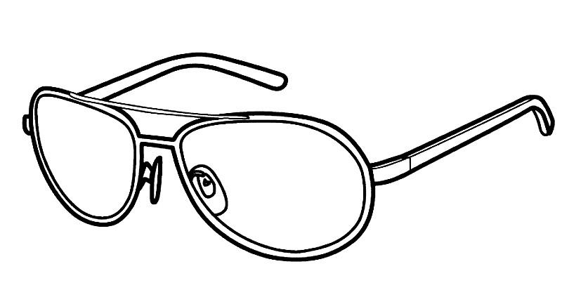 Раскраска очки