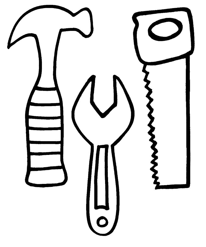 Раскраска полезные инструменты | Раскраски для детей ...