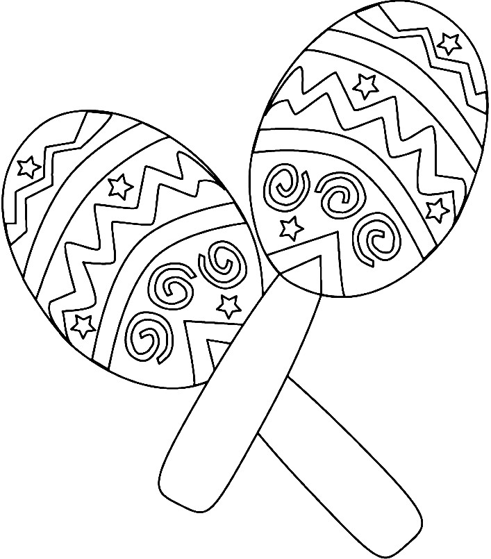 Раскраска маракасы