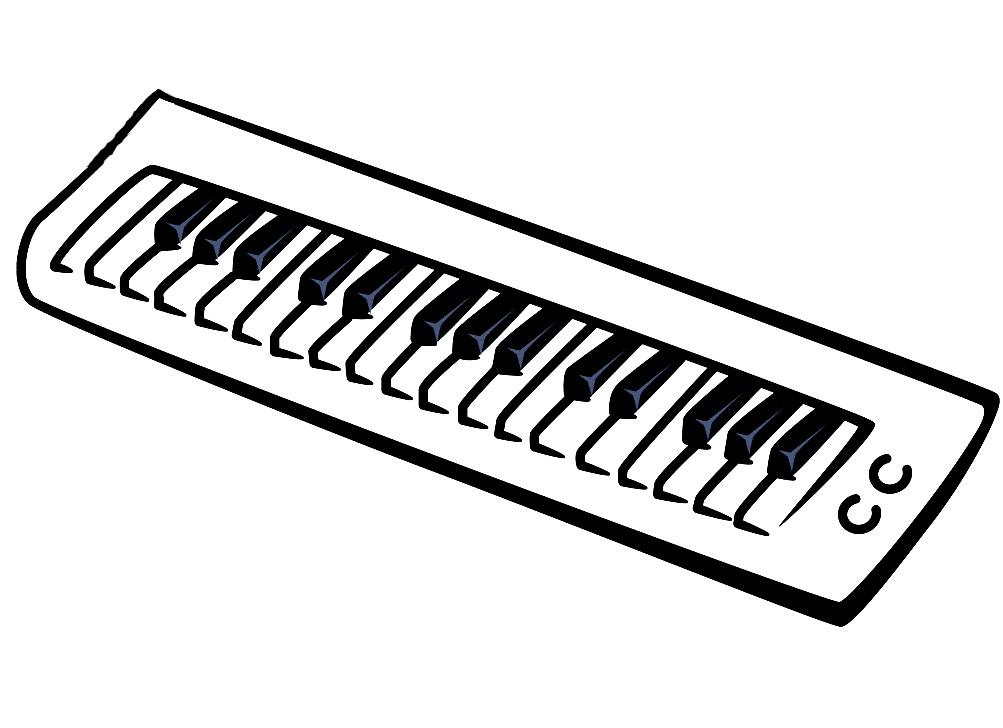 Раскраска синтезатор