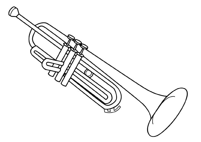 Раскраска тромбон