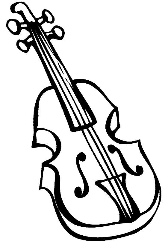 Раскраска скрипка