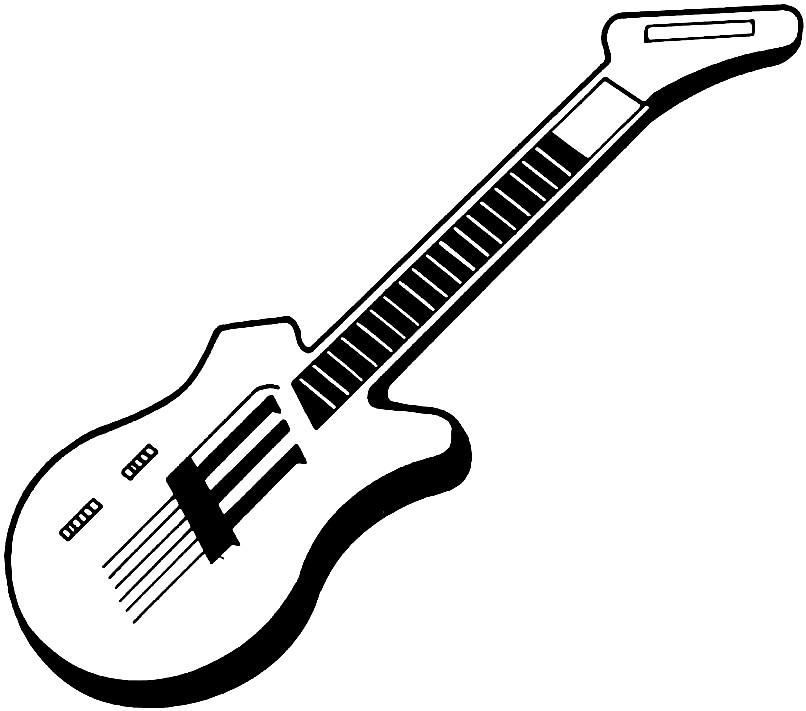 Раскраска гитара
