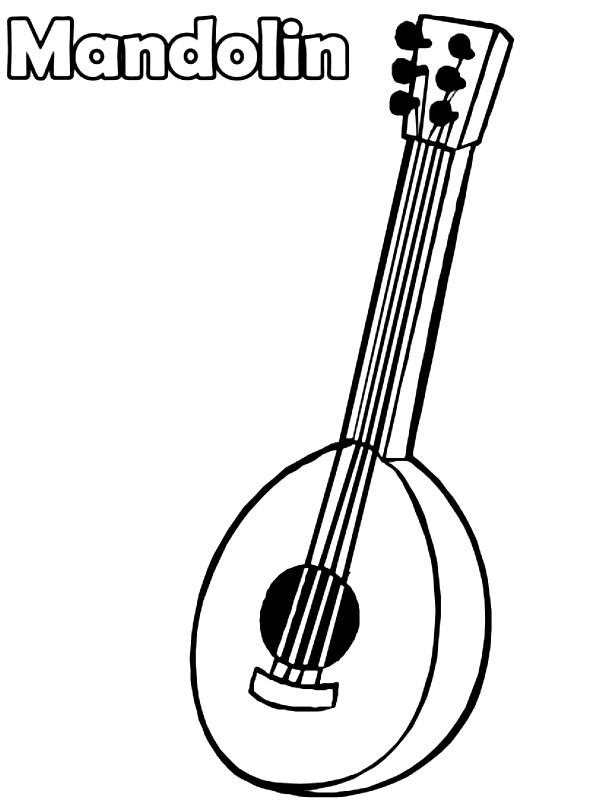 Раскраска мандолина
