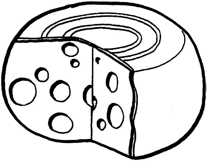 Раскраска сыр маасдам