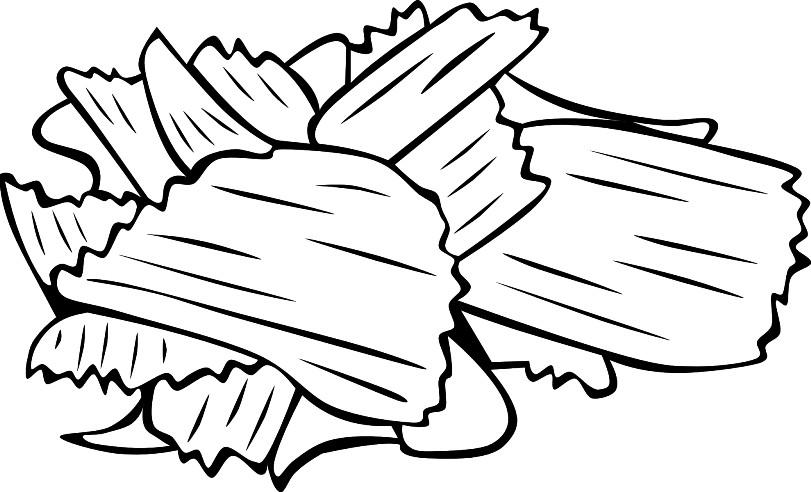 Раскраска чипсы