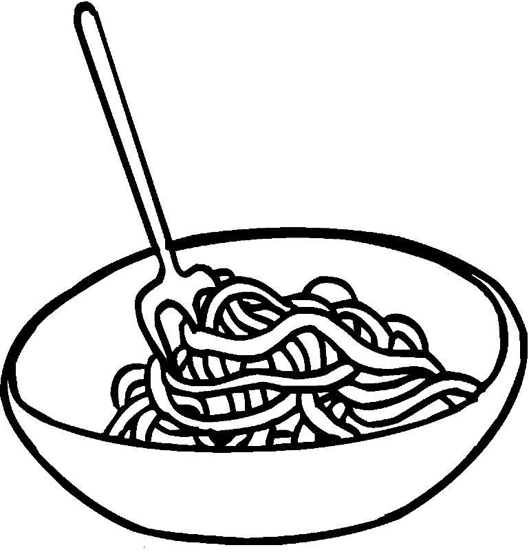 Раскраска спагетти