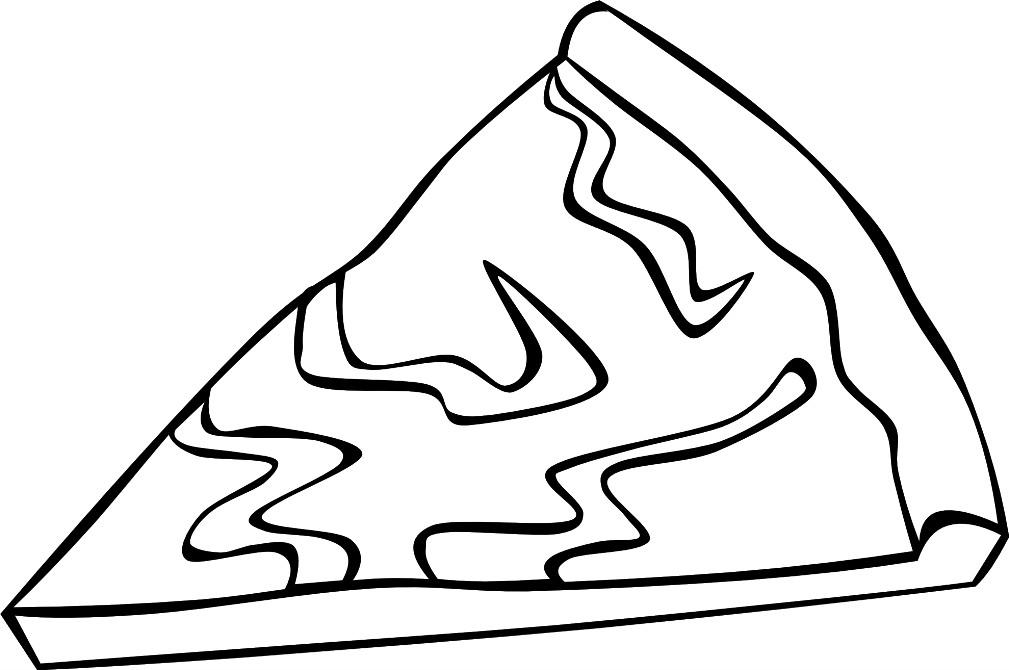 Раскраска кусок пиццы