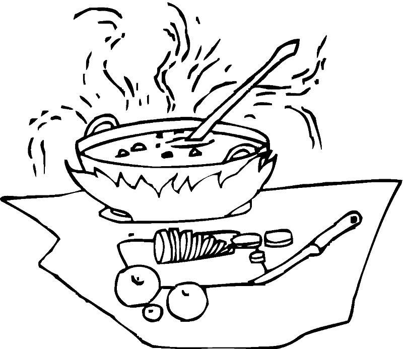 Раскраска суп