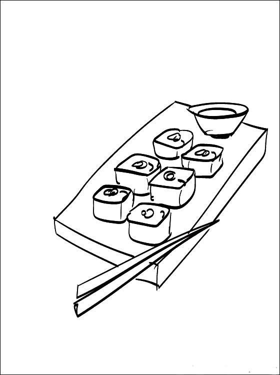Раскраска суши
