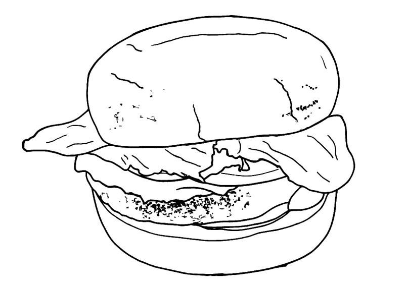 Раскраска чизбургер