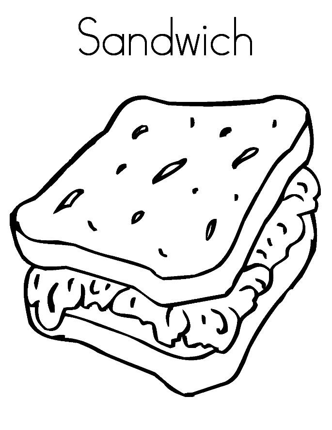 Раскраска сендвич