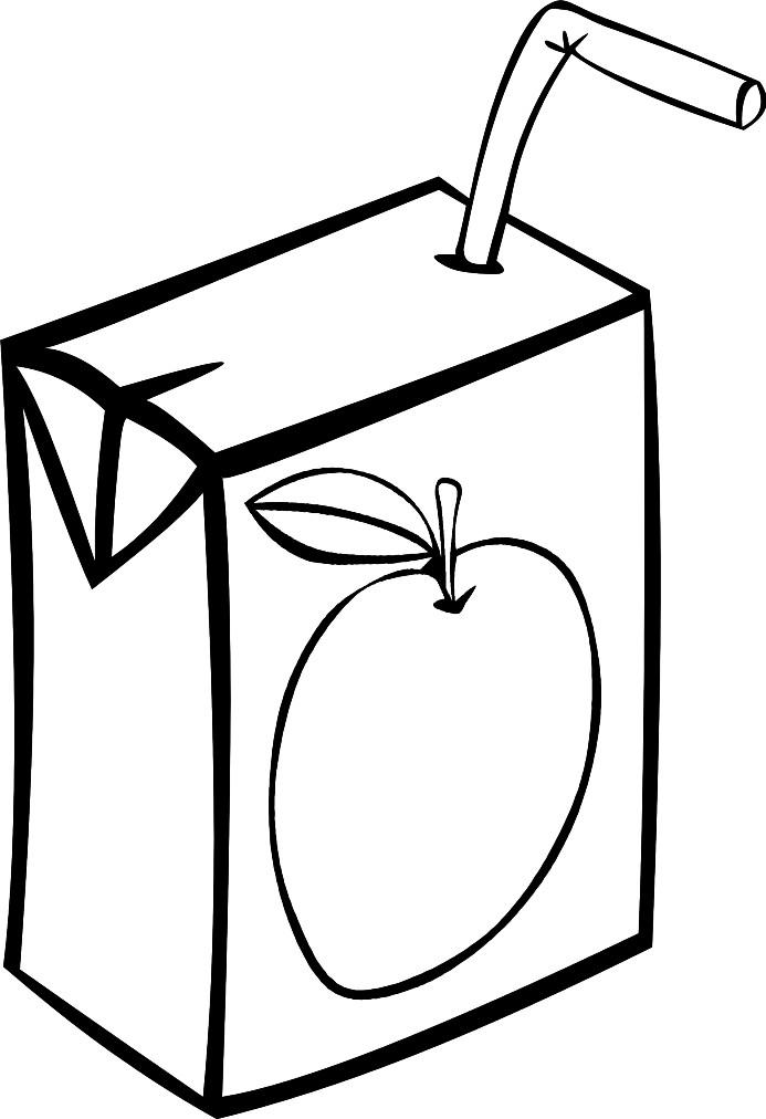 Раскраска яблочный сок