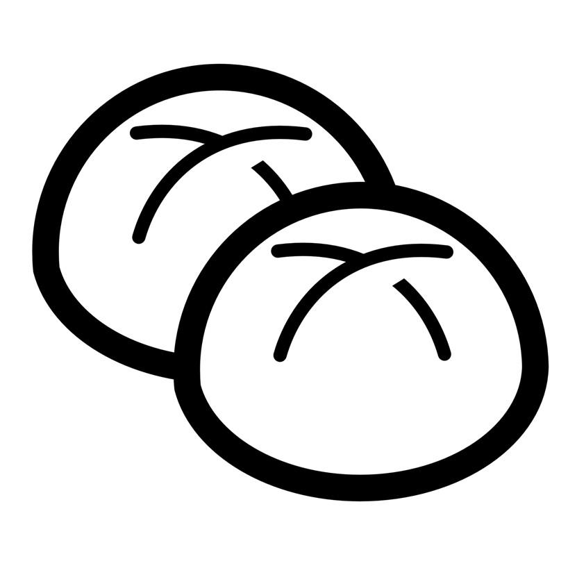 Раскраска булочки