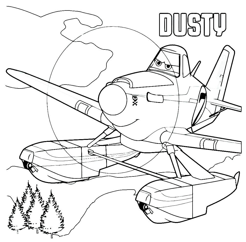 Раскраска самолёт Дасти
