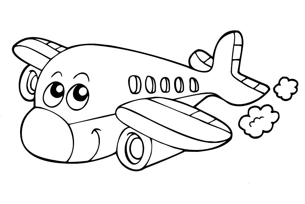 Раскраска самолётик