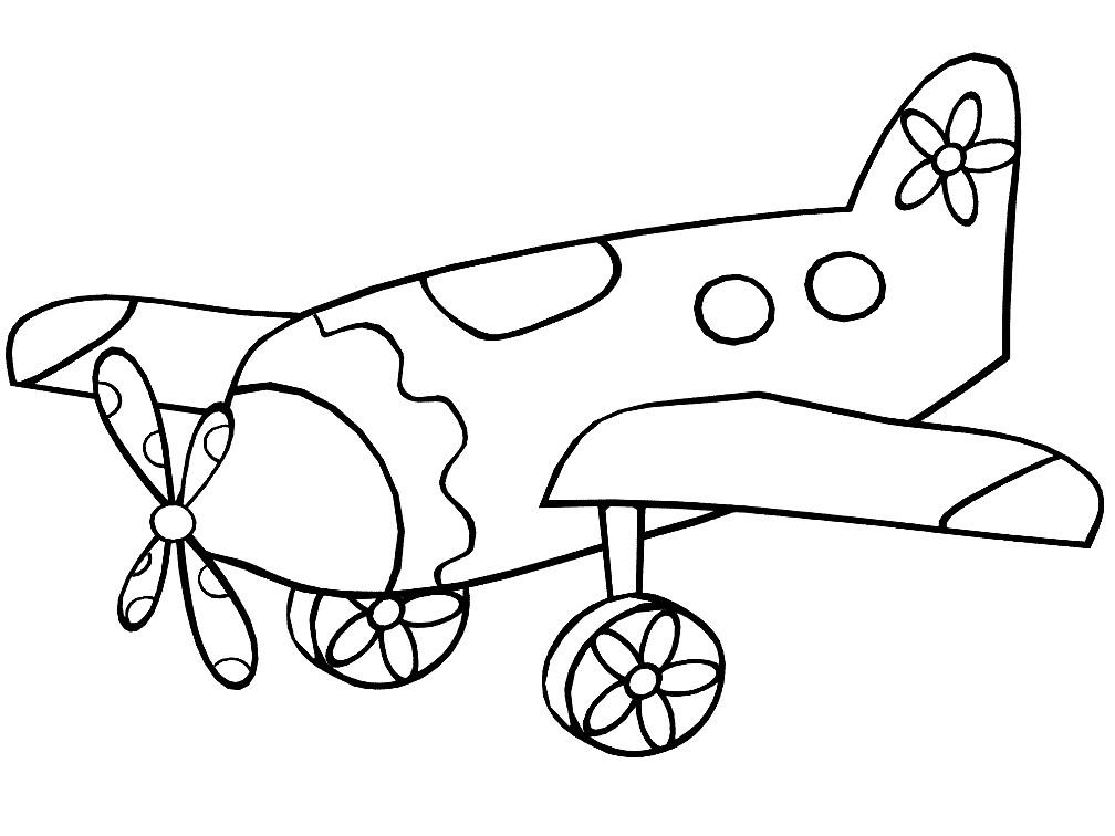 Раскраска самолёт для детей
