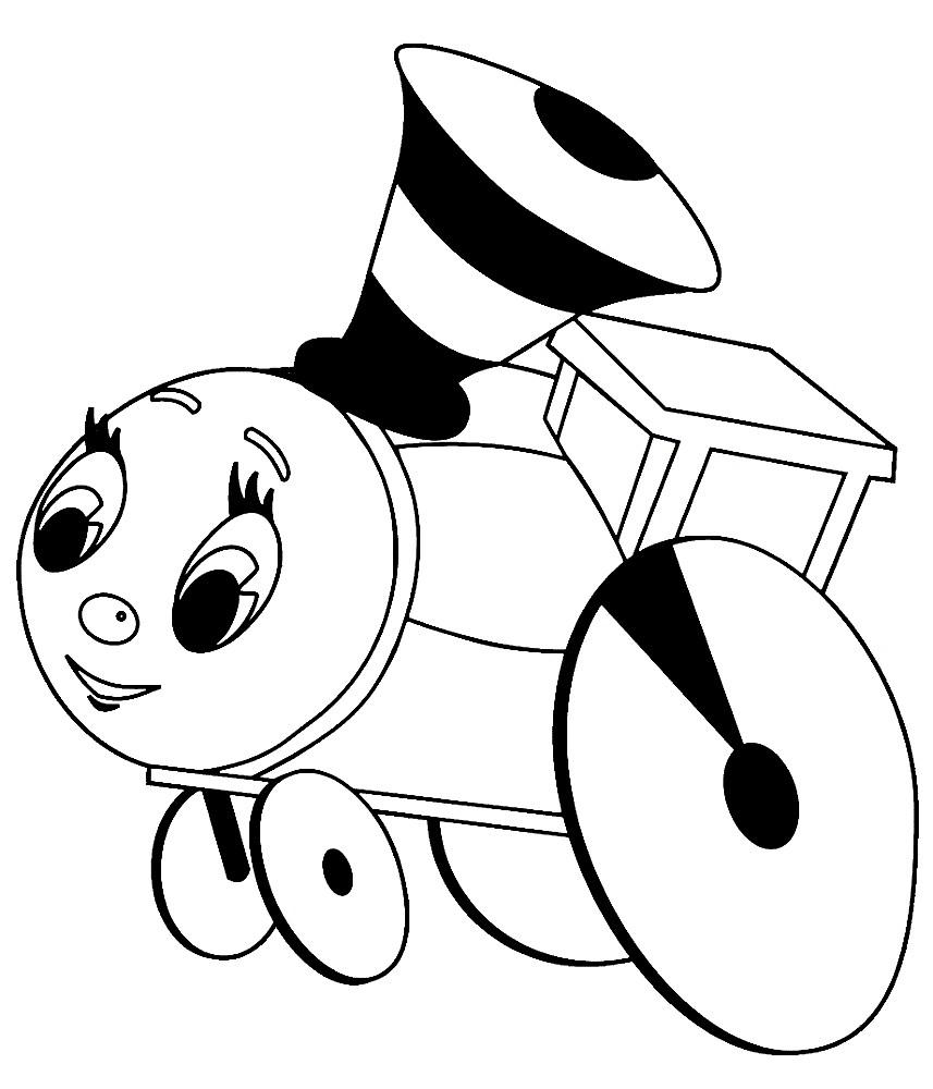 Раскраска поезд Чух Чух