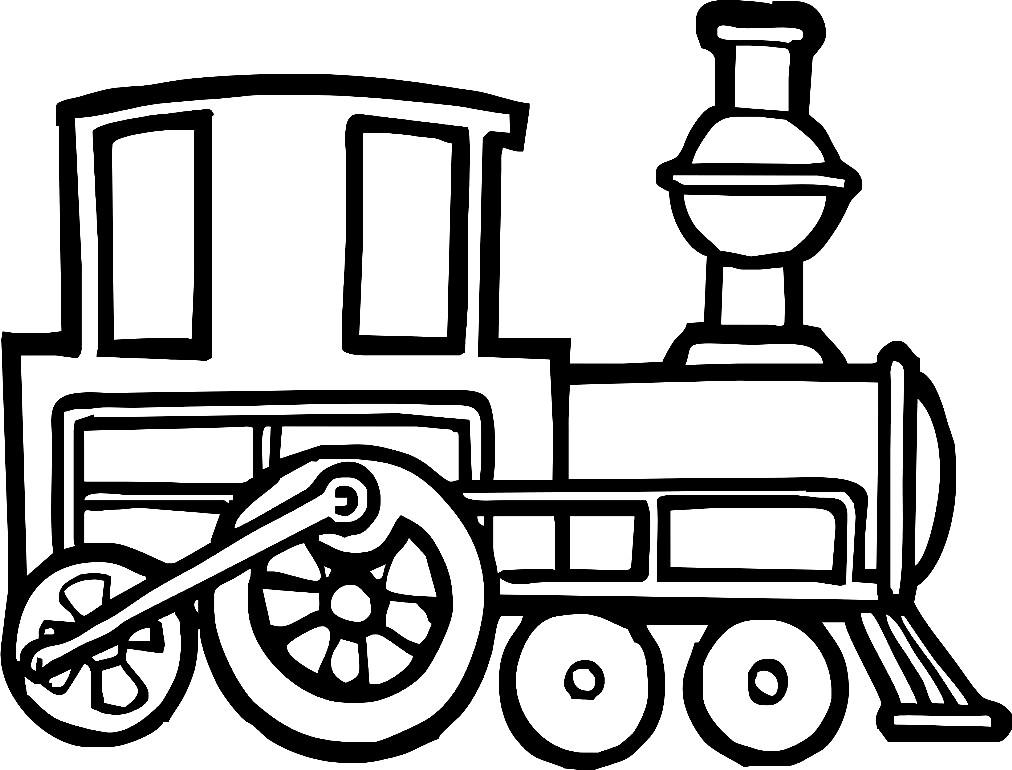 Раскраска поезд Ту Туууу