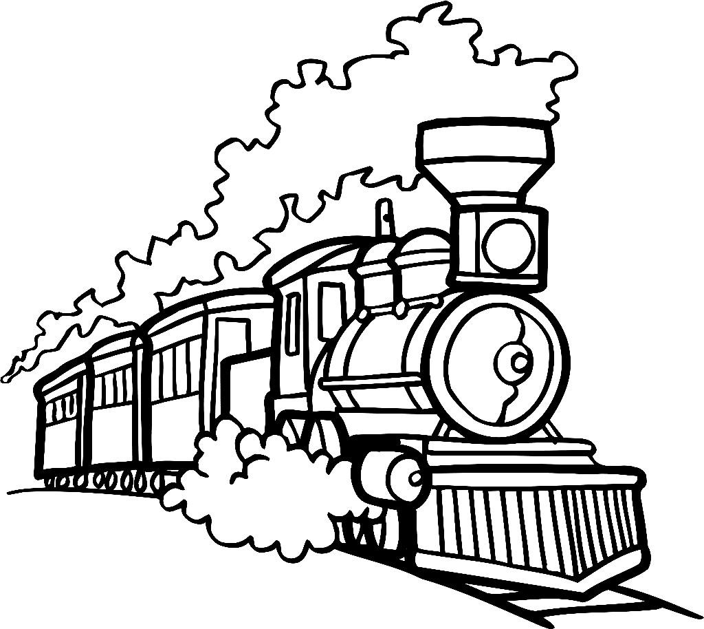 Раскраска поезд для детей