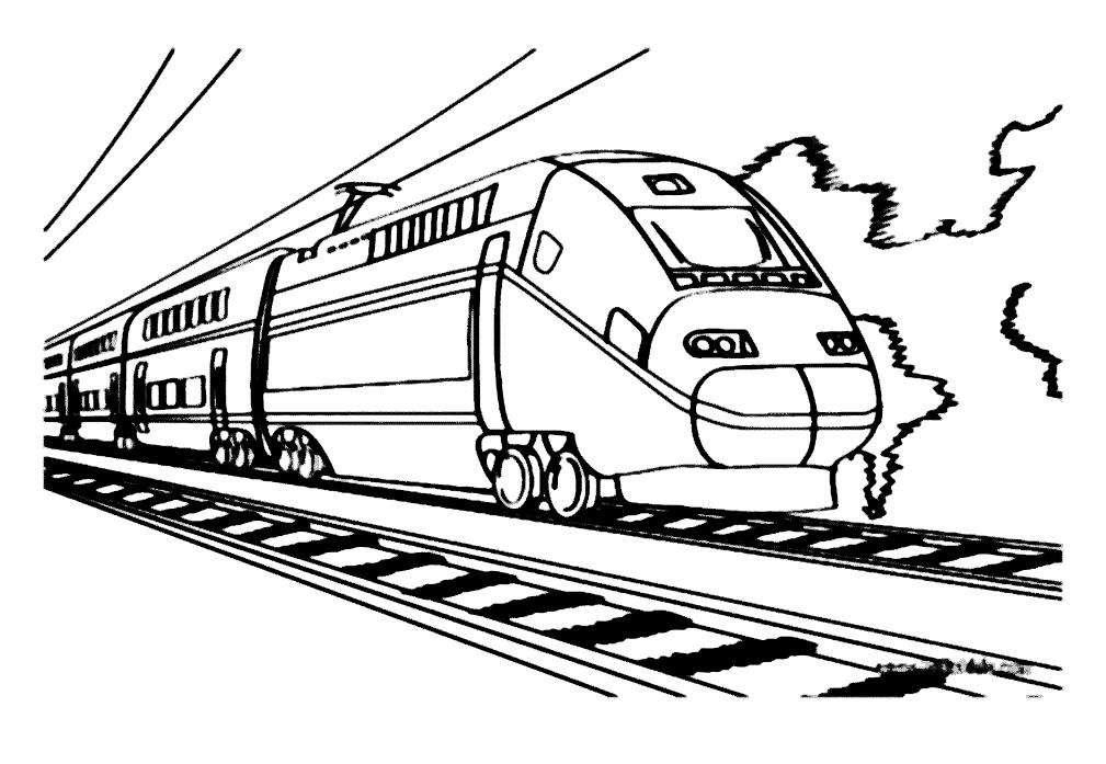 Раскраска поезд сапсан