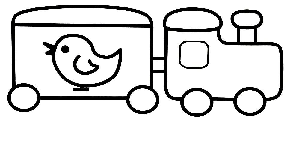 Раскраска поезд для малышей