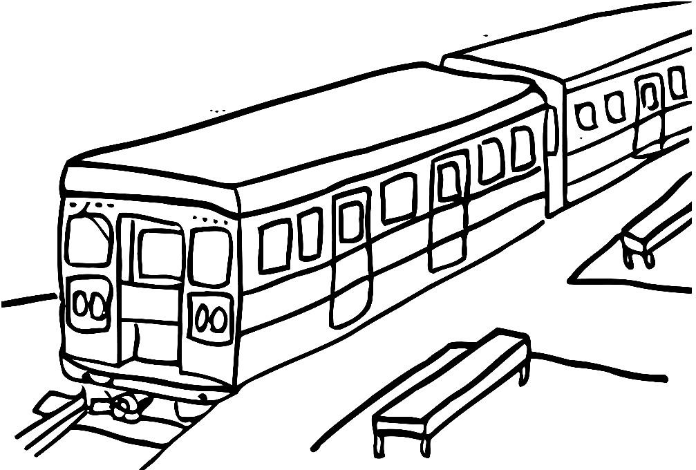 Раскраска вагоны поезда