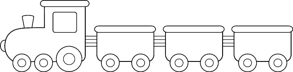 Раскраска поезд с вагончиками