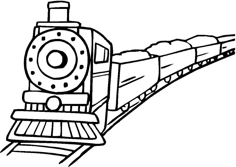Раскраска грузовой поезд
