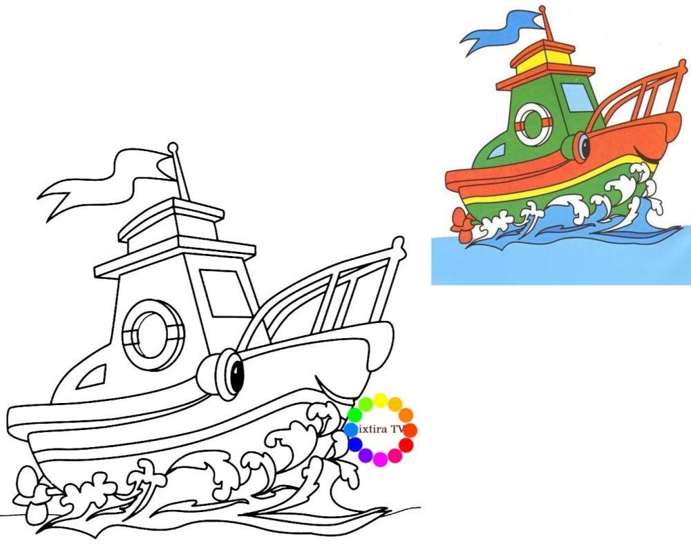 Раскраска кораблик из мультиков