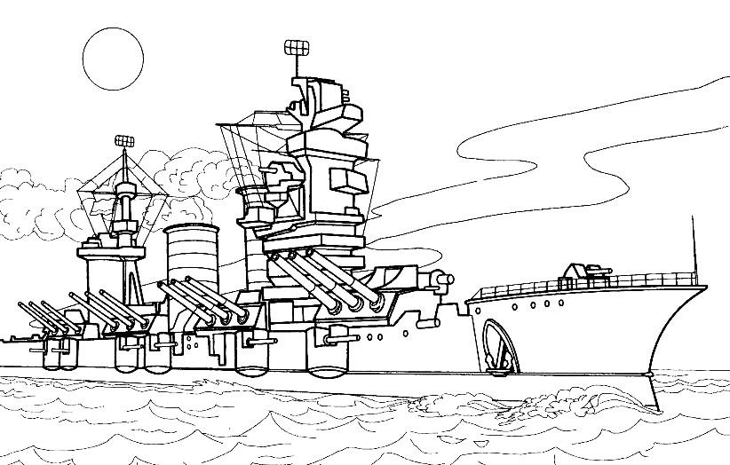 Раскраска крейсер