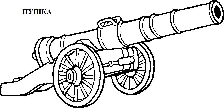 Раскраска пушка