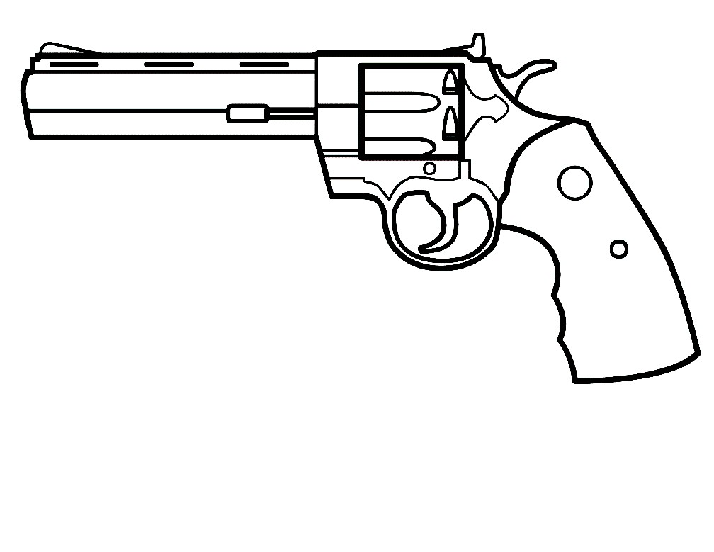 Раскраска револьвер