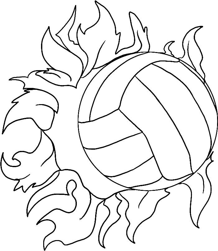 Раскраска огненный мяч