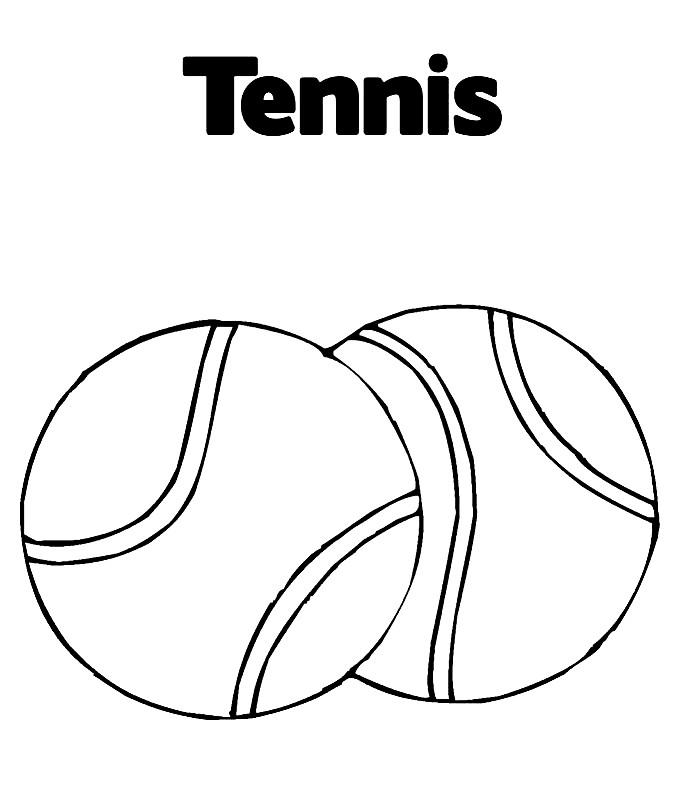 Раскраска теннисные мячи