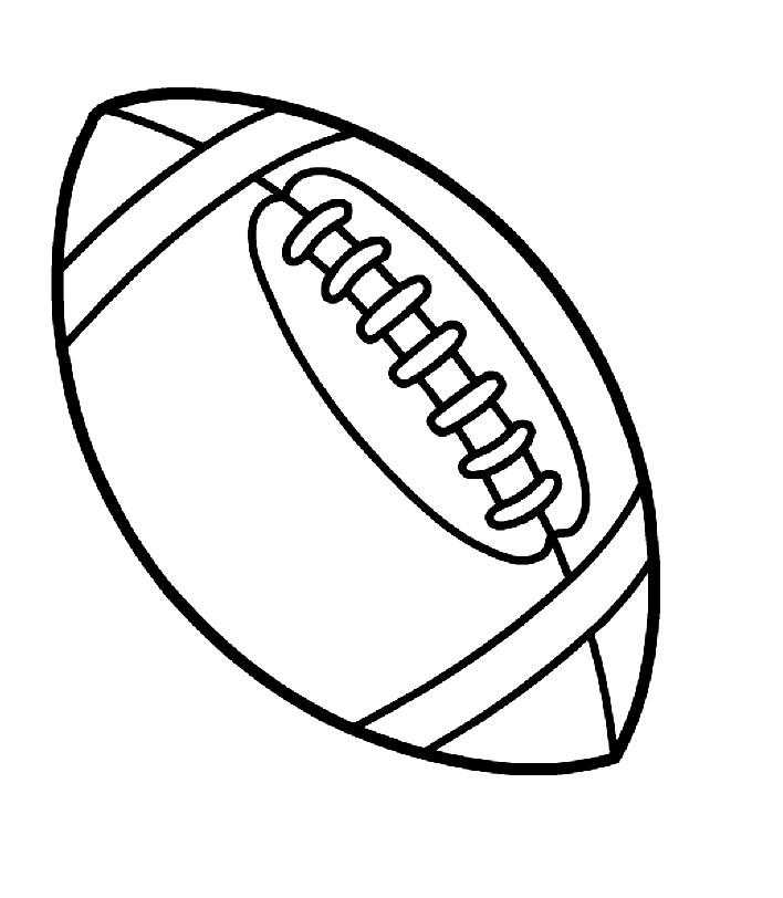 Раскраска мяч для игры в регби