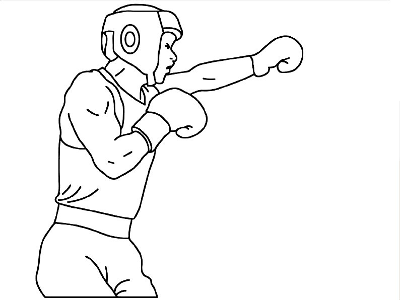 Раскраска бокс
