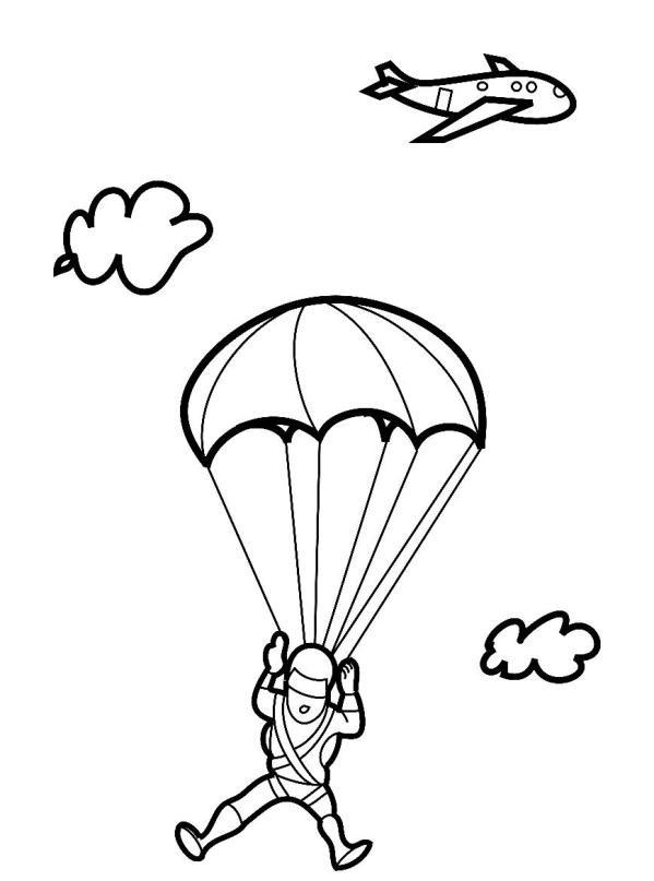 Раскраска парашютный спорт