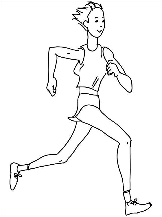 Раскраска спортивный бег