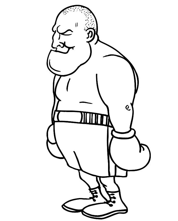 Раскраска боксер