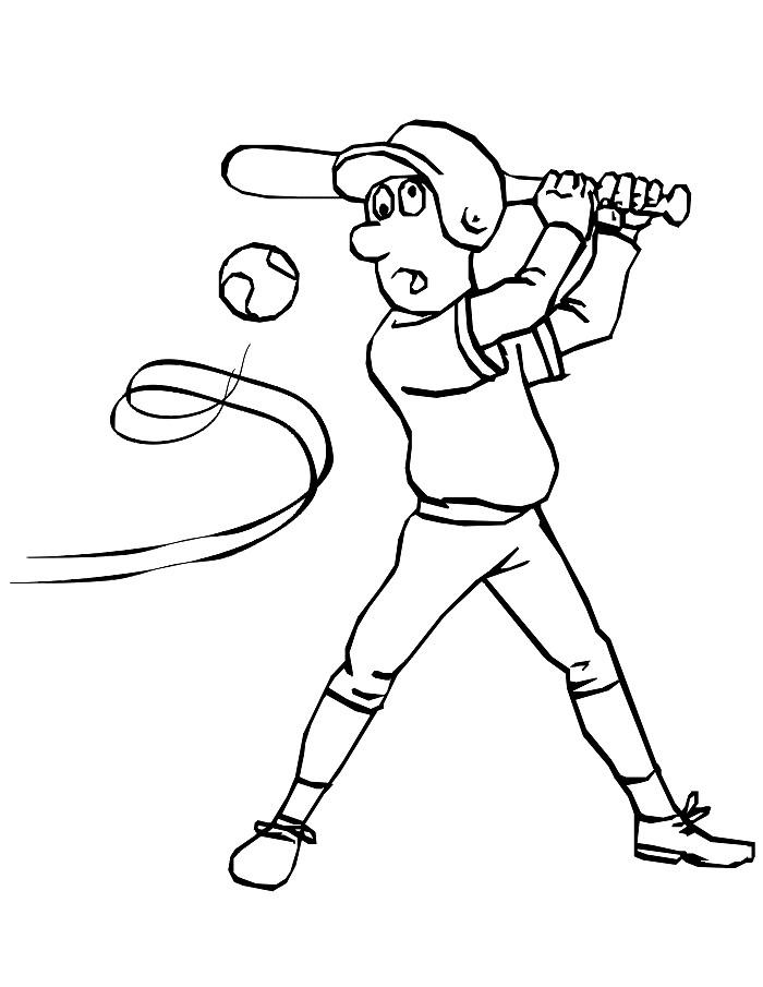 Раскраска бейсбол