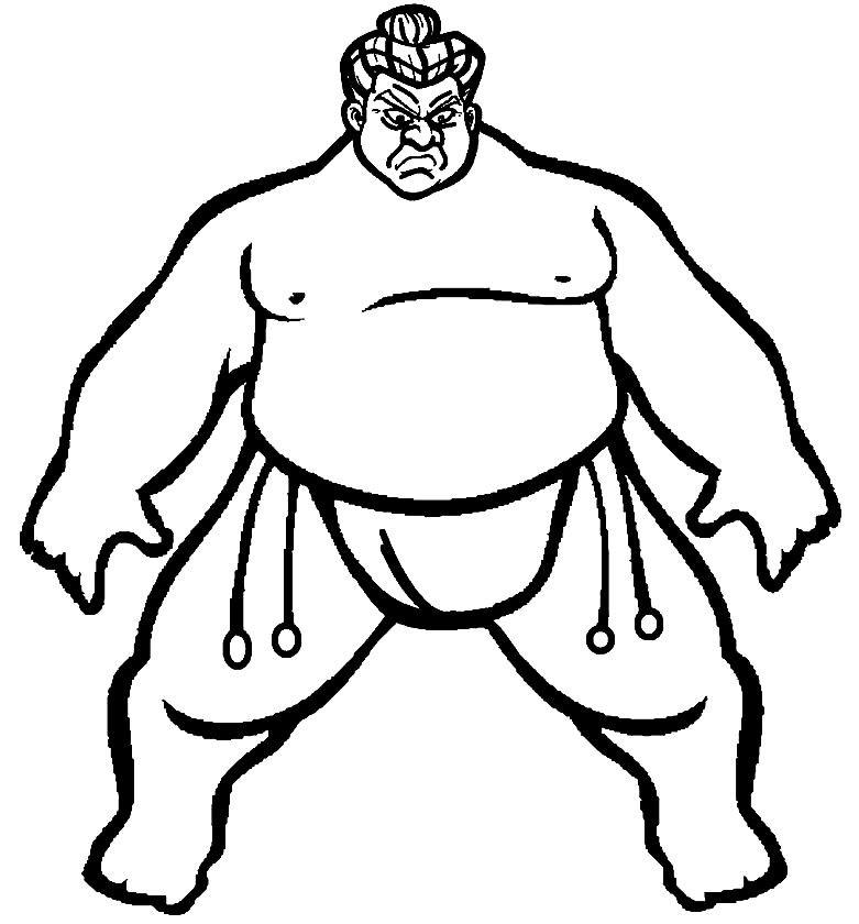 Раскраска сумоист