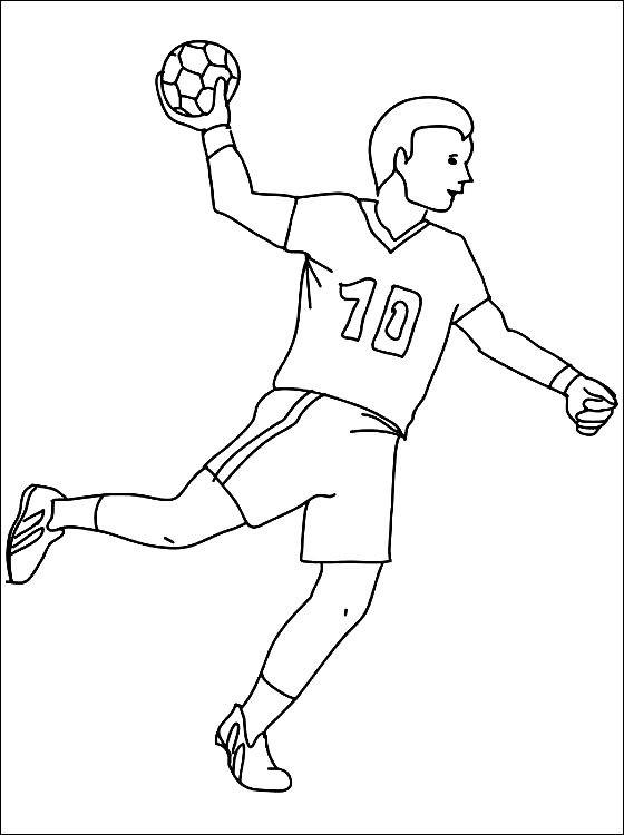 Раскраска мужской гандбол