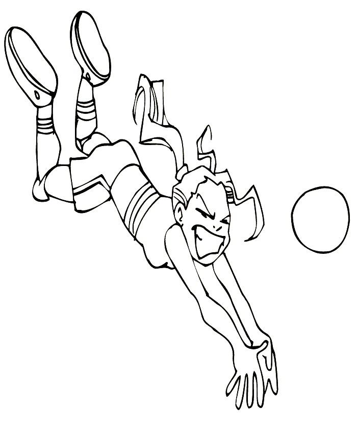 Раскраска волейболистка