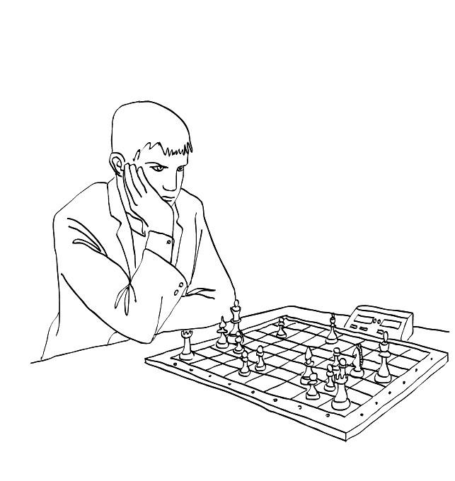 Раскраска шахматист