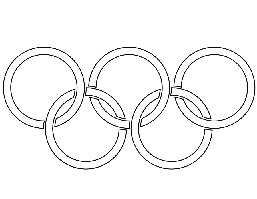 Раскраска олимпийские кольца