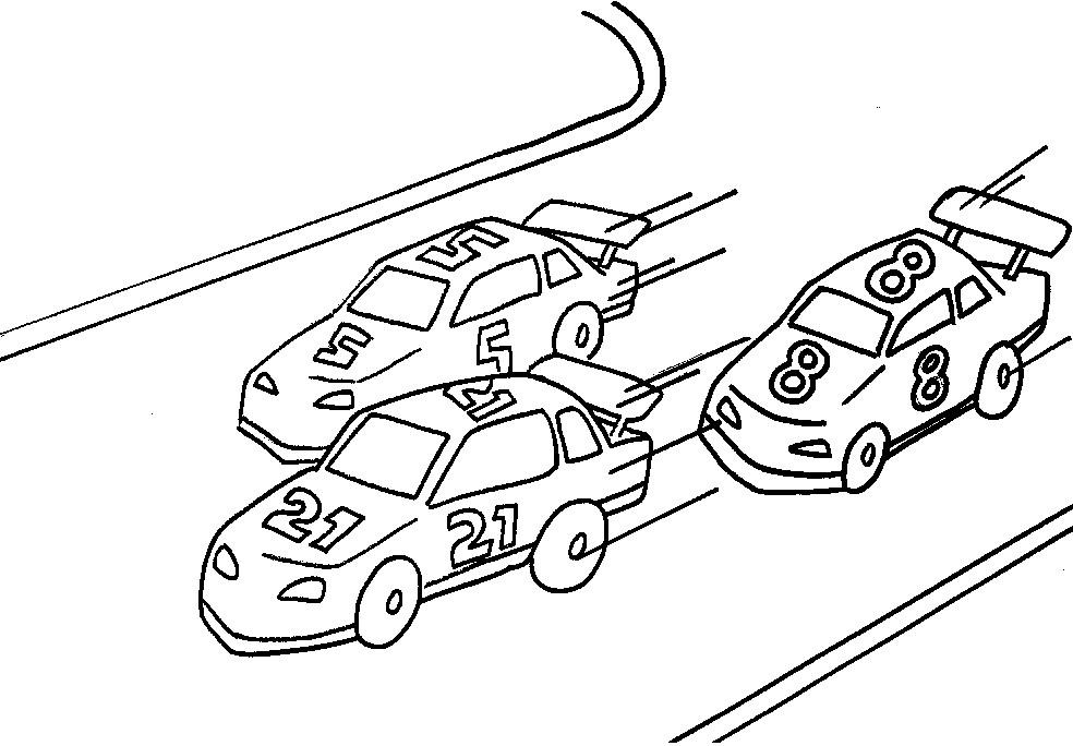 Раскраска автоспорт